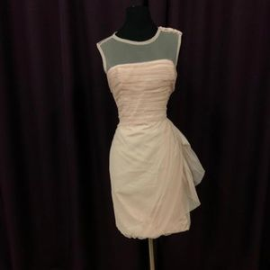 Vera Wang Pink Bobbin with Illusion Neckline